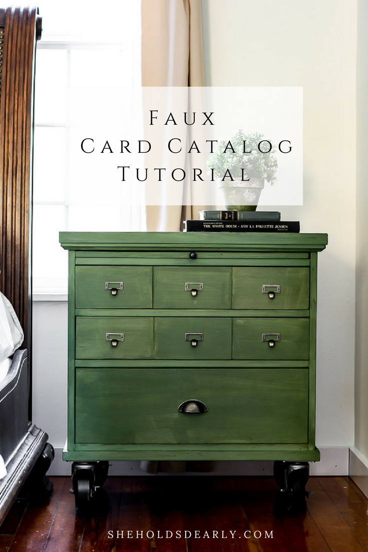 If you have a simple piece of furniture with drawers or doors, you can create a faux card catalog. In this tutorial, you will learn how!