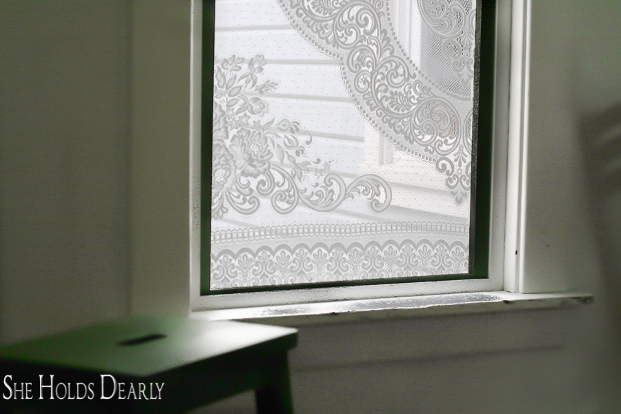 This project is good for a window covering, privacy screening or a lace window screen. By using some 1x2's and thrifted lace you can make your own!