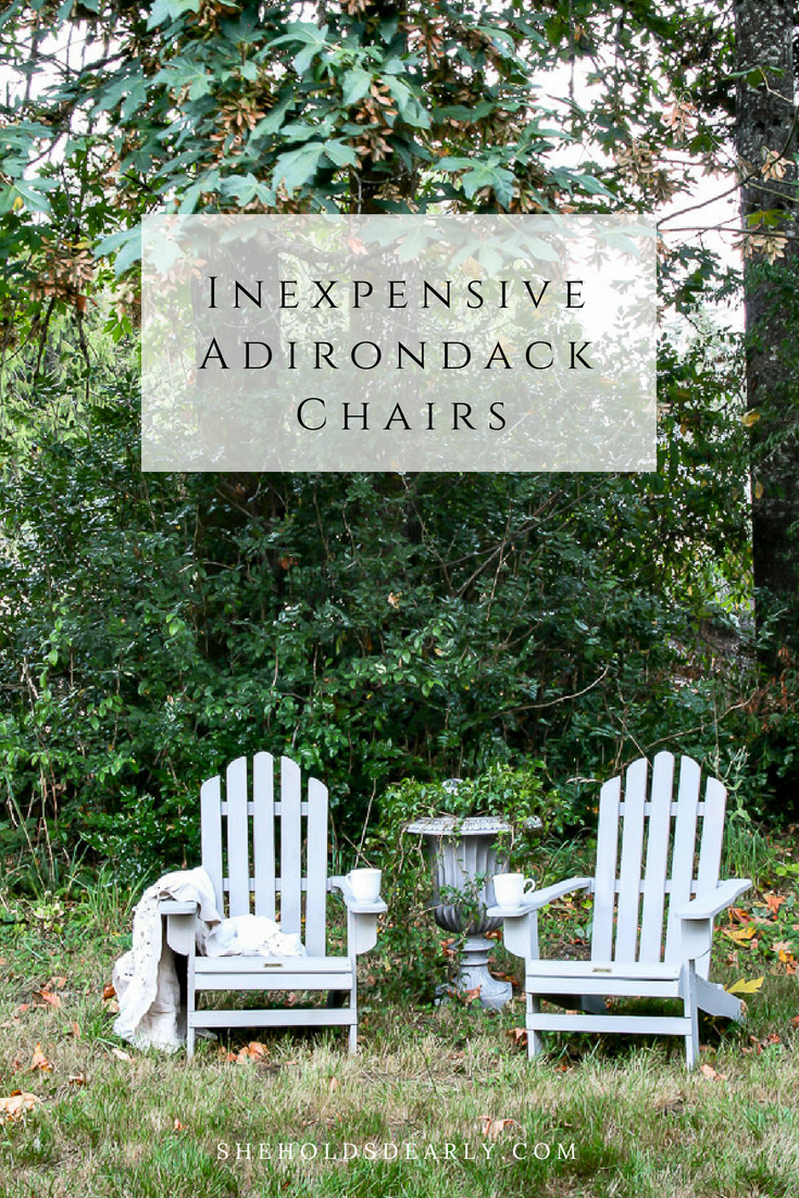 Inexpensive Adirondack Chairs by sheholdsdearly.com