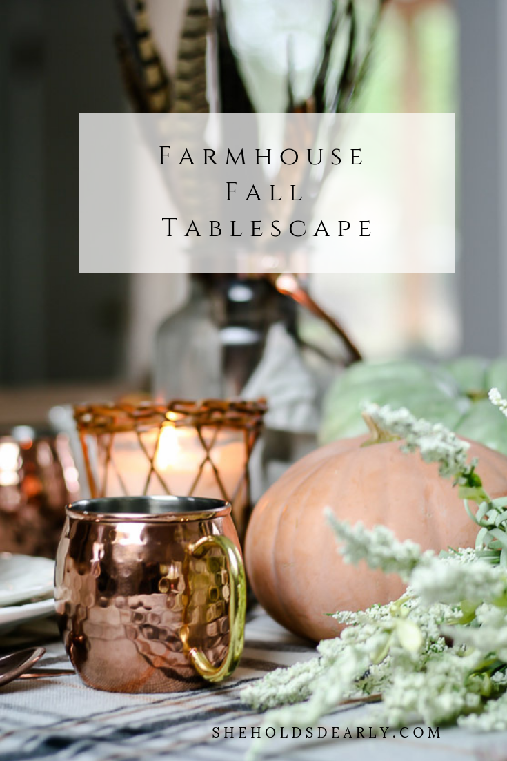 Farmhouse Fall Tablescape by sheholdsdearly.com
