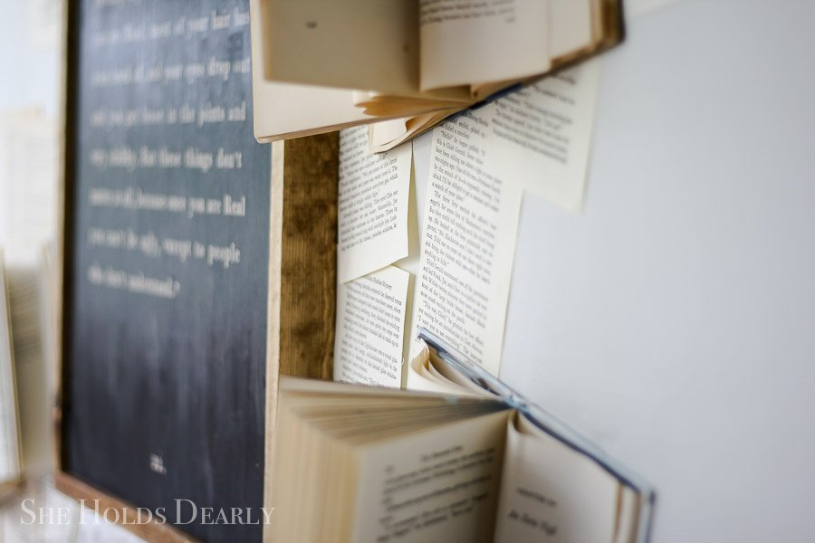 Book Page Wall by sheholdsdearly.com