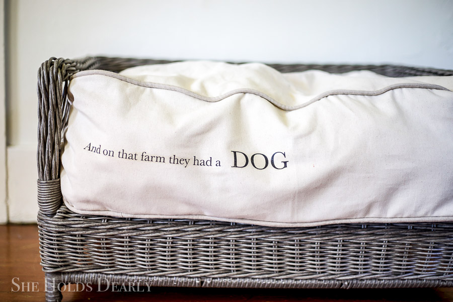 Custom Dog Bed by sheholdsdearly.com