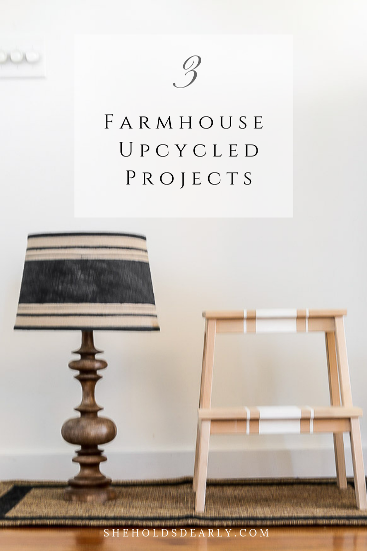 Farmhouse Upcycled DIY Projects by sheholdsdearly.com