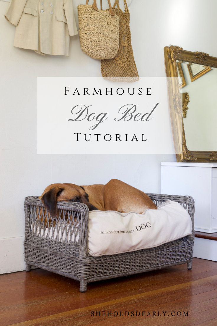 Farmhousestyle Dog Bed Tutorial