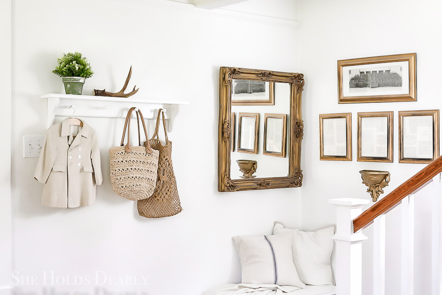 How to Hang Heavy Mirror Without Studs by sheholdsdearly.com