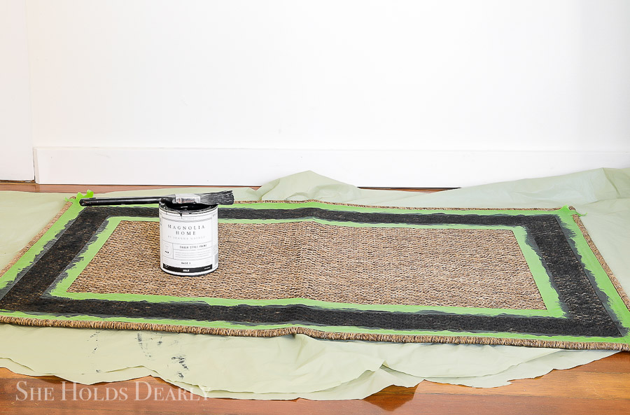 How to Paint a Rug with Chalk Paint by sheholdsdearly.com