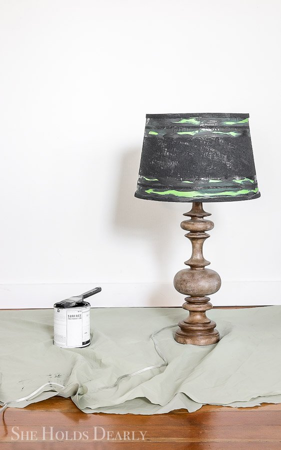 Painted Burlap Lampshade by sheholdsdearly.com