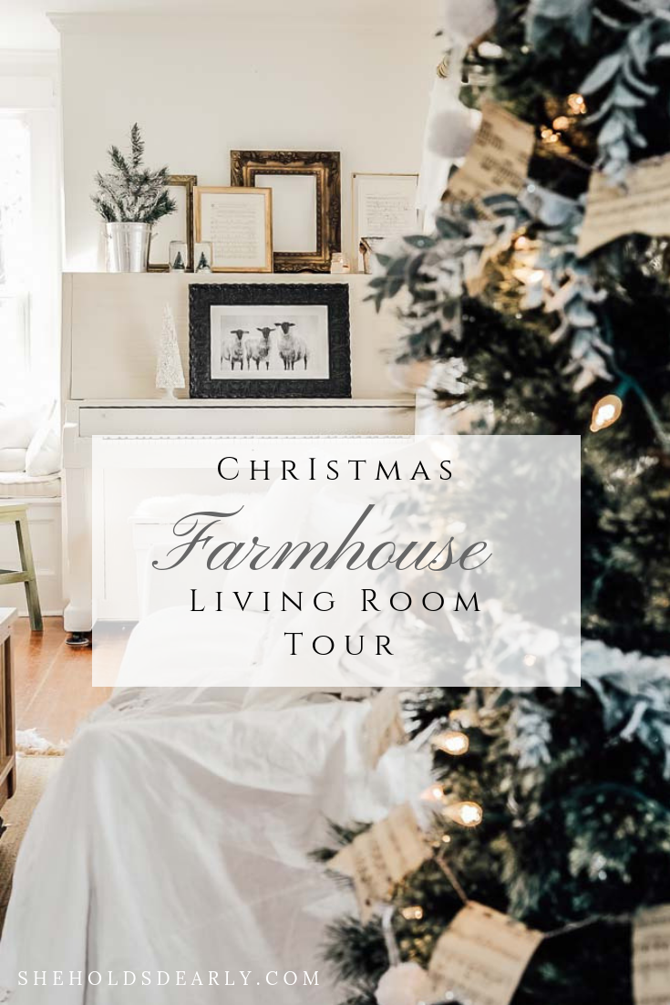 Christmas Farmhouse Living Room Tour by sheholdsdearly.com