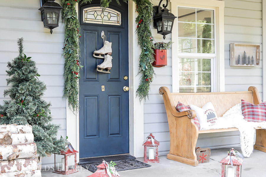 Christmas Porch by sheholdsdearly.com