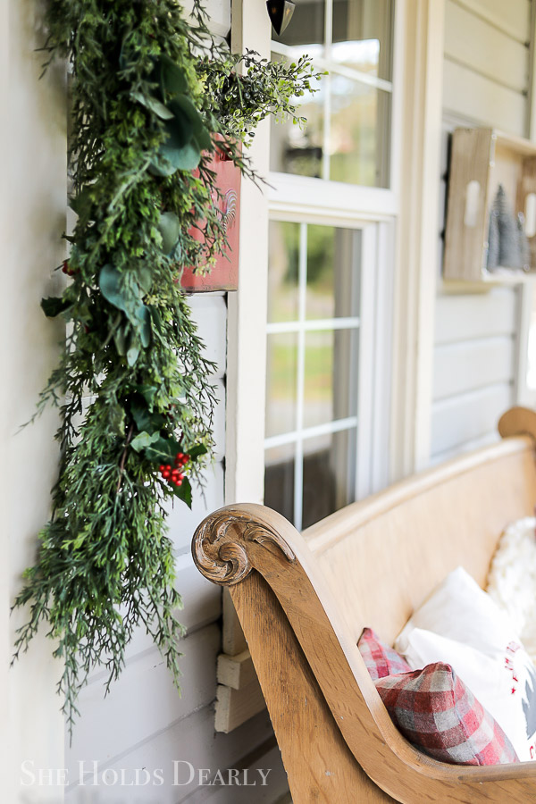 Farmhouse Christmas Porch Tour by sheholdsdearly.com
