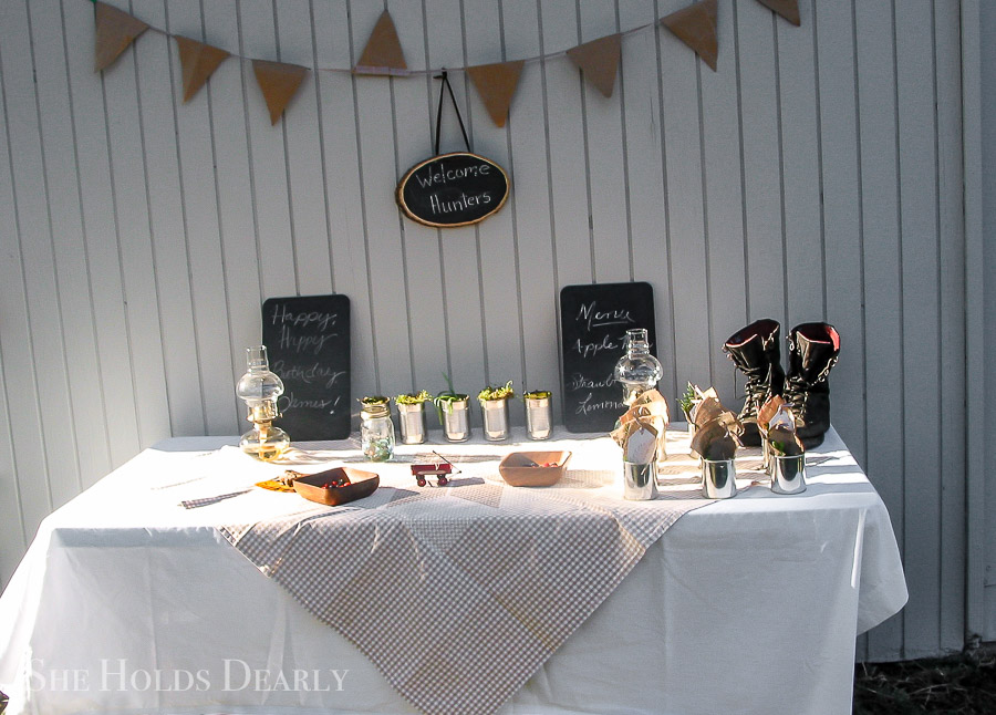 Rustic Hunter Themed Birthday by sheholdsdearly.com