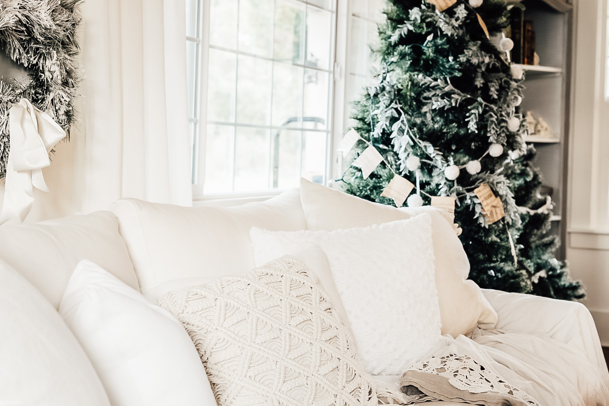 White Living Room Winter Wonderland by sheholdsdearly.com