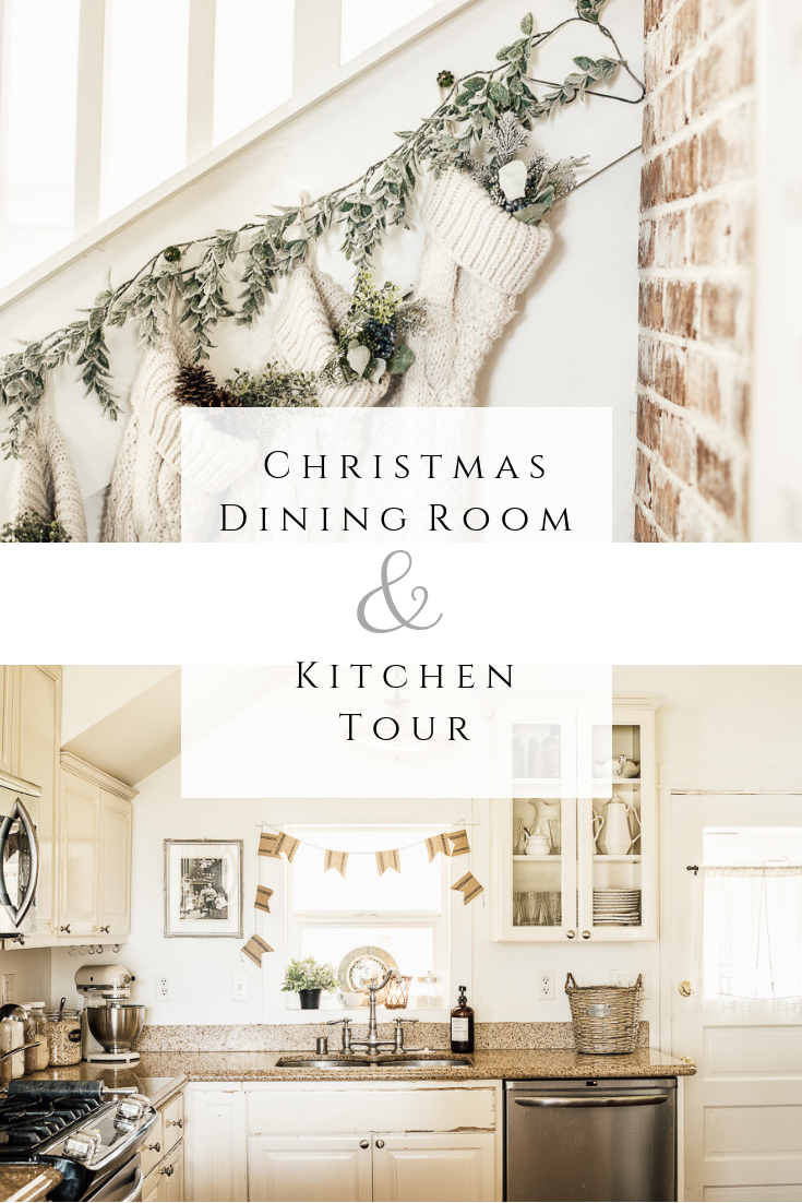 Christmas Dining Room & Kitchen Tour by sheholdsdearly.com