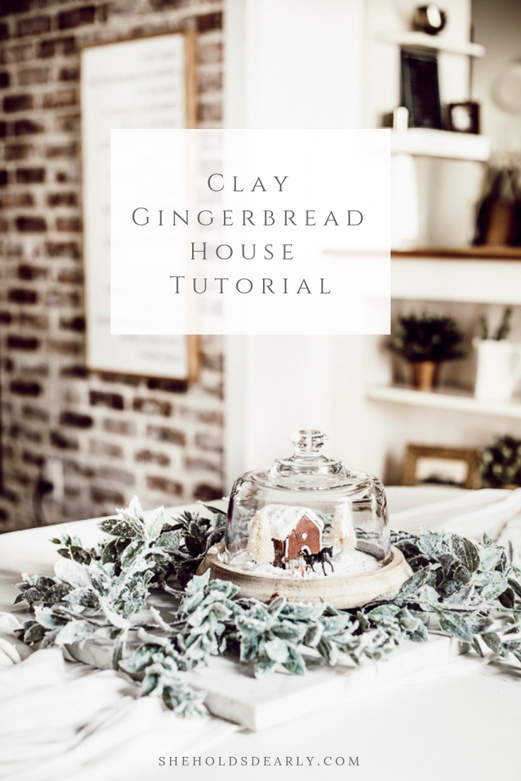 Clay Gingerbread House Tutorial by sheholdsdearly.com