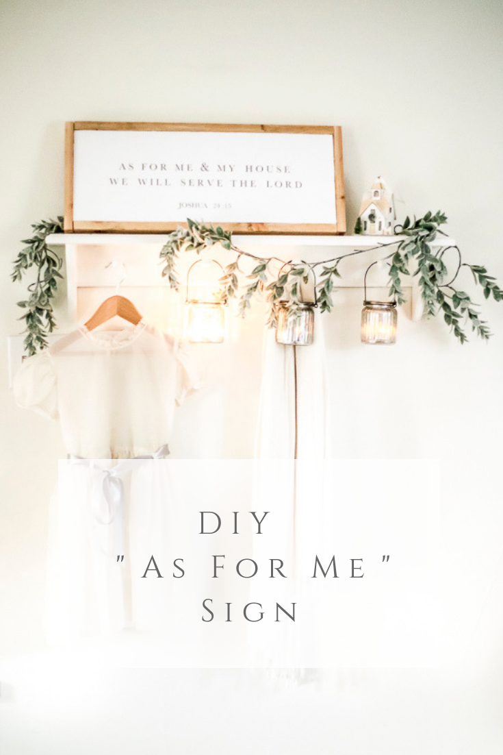 "DIY ""As For Me"" Sign by sheholdsdearly.com"
