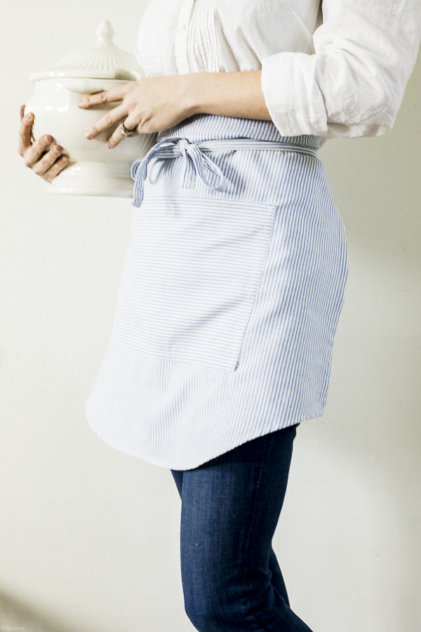 Apron From Mens Dress Shirt by sheholdsdearly.com