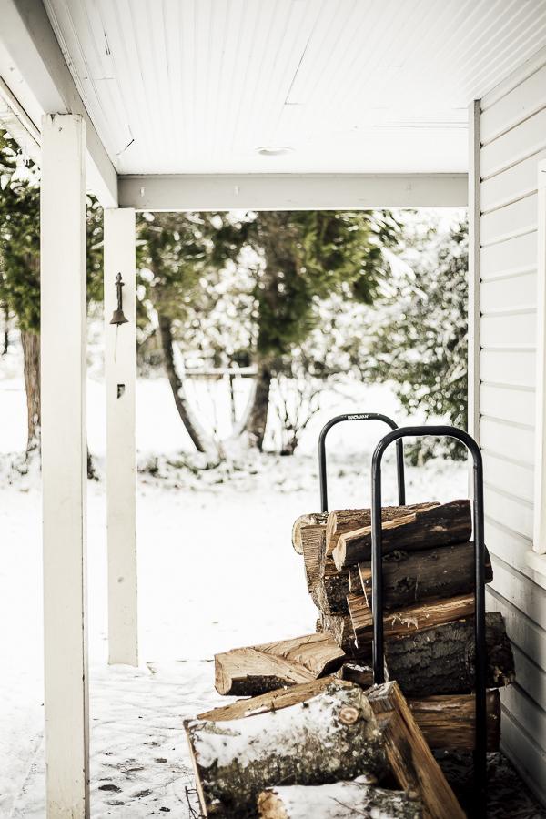 Farmhouse Porch Wintertime by sheholdsdearly.com