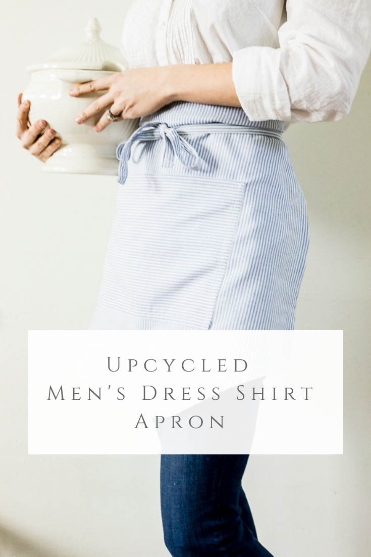 Upcycled Mens Dress Shirt Apron by sheholdsdearly.com