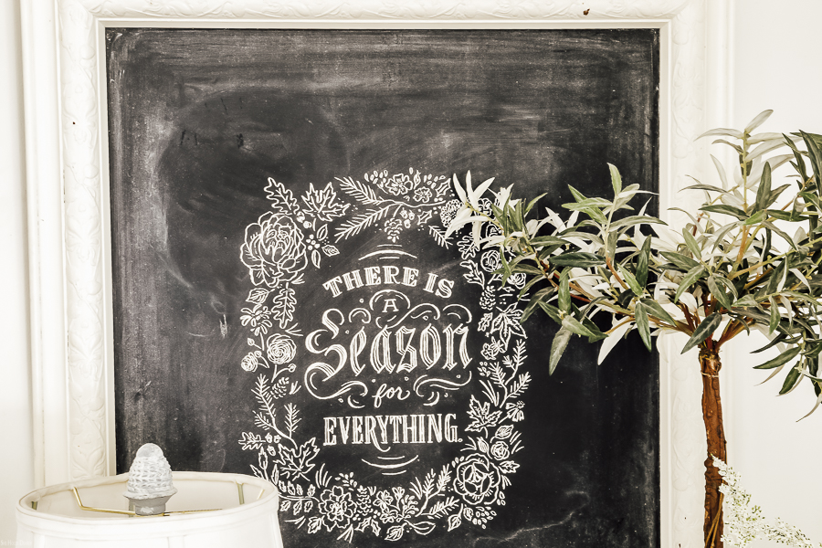 Simple Spring Chalkboard by sheholdsdearly.com