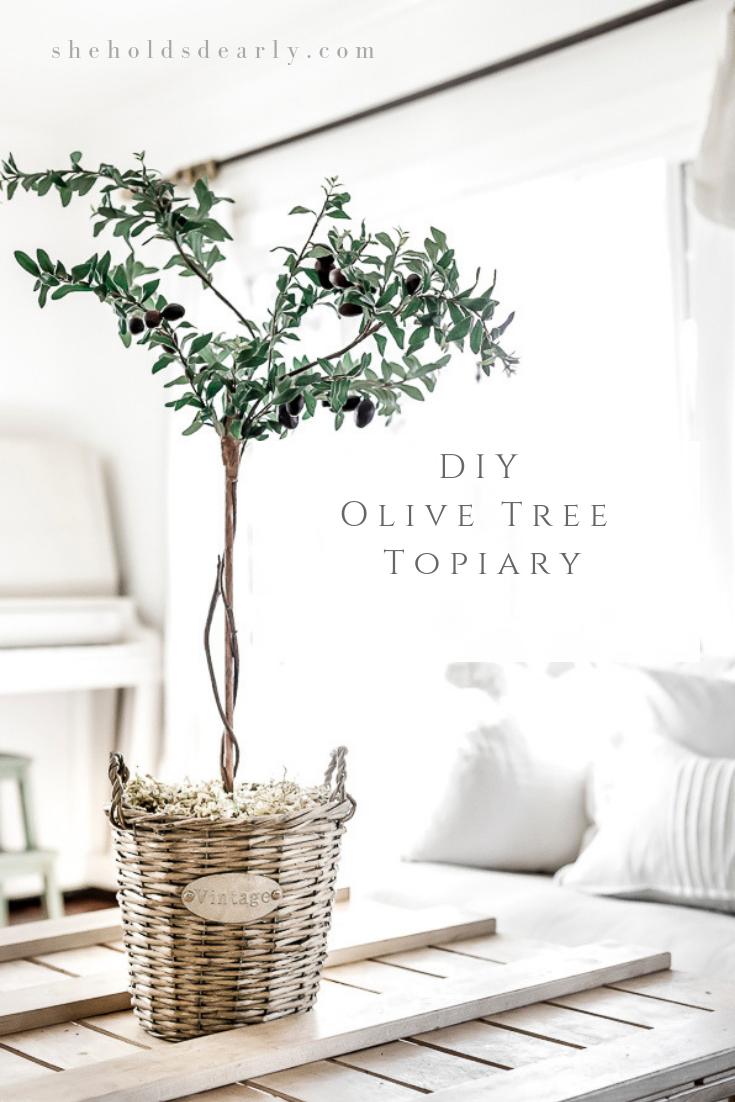 DIY Olive Tree Topiary by sheholdsdearly.com