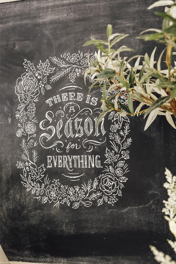 Spring Chalk Art by sheholdsdearly.com