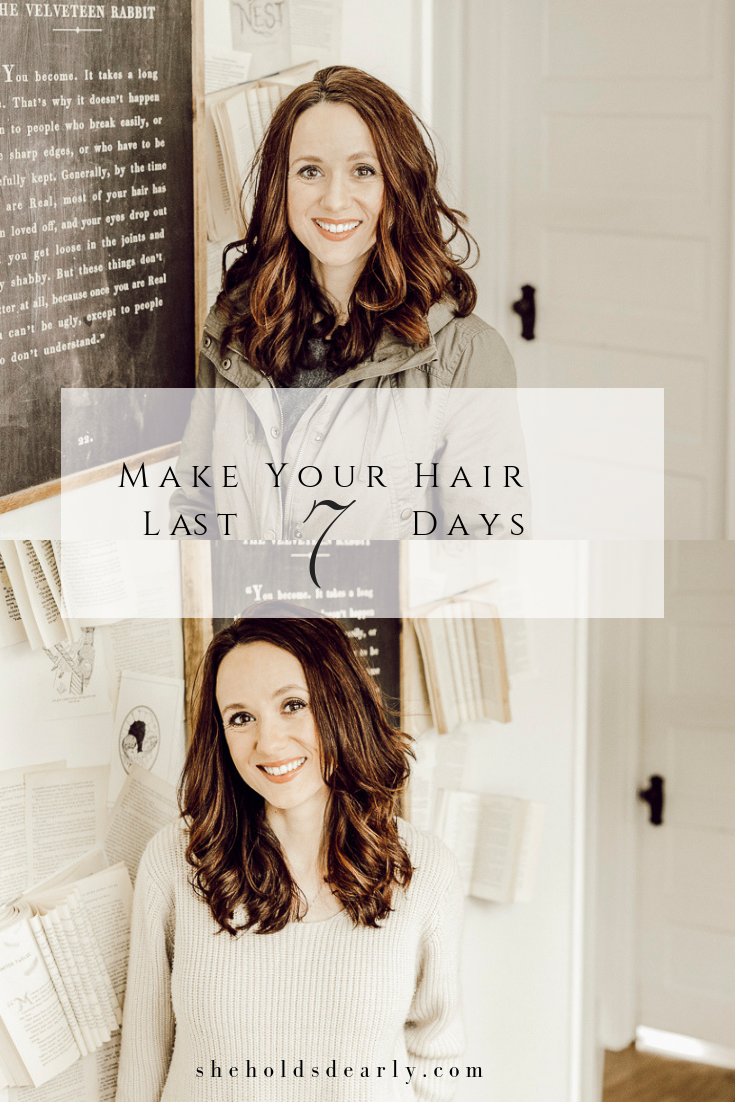 Wash Your Hair Once a Week by sheholdsdearly.com