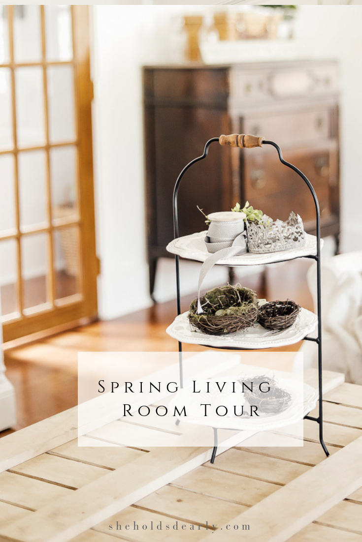 Spring Living Room Tour by sheholdsdearly.com