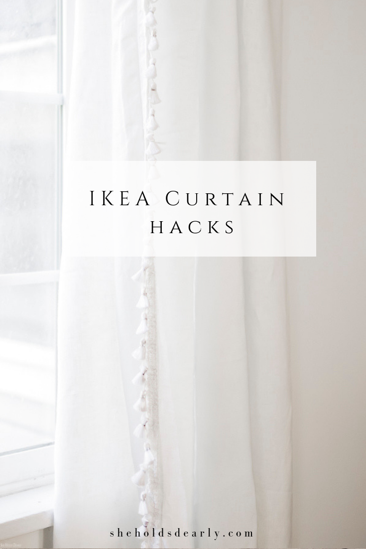 Ikea Curtain Hacks by sheholdsdearly.com
