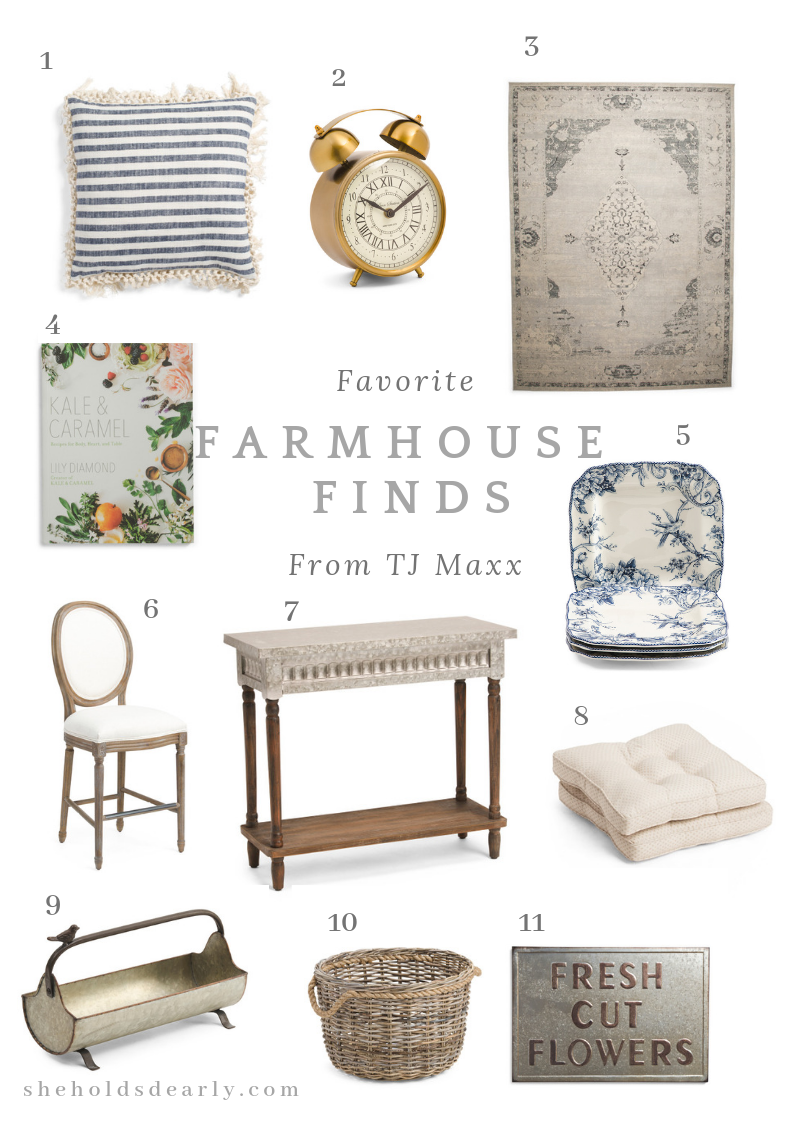 Shopping Guide Farmhouse Finds TJ Maxx by sheholdsdearly.com