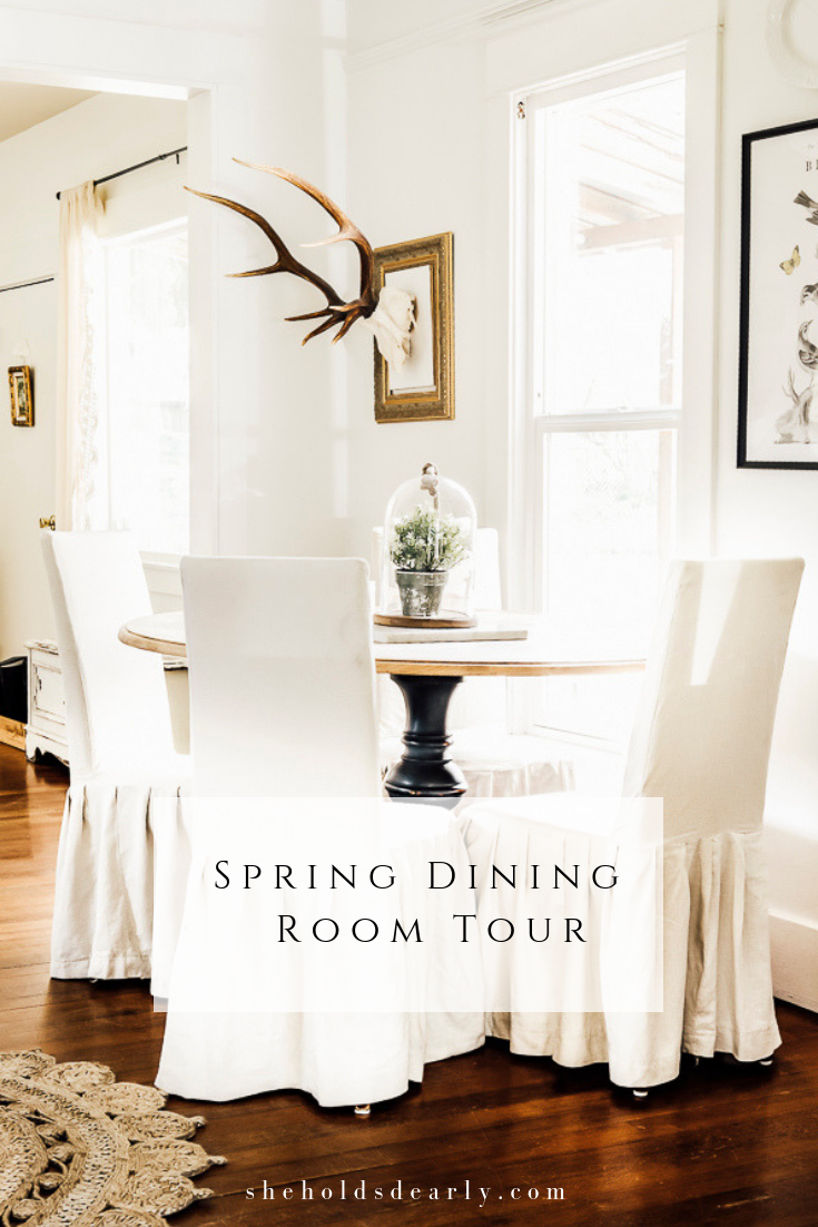 Spring Dining Room Decor by sheholdsdearly.com