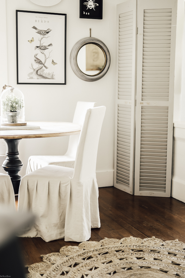 Spring Home Decor Dining Room by sheholdsdearly.com
