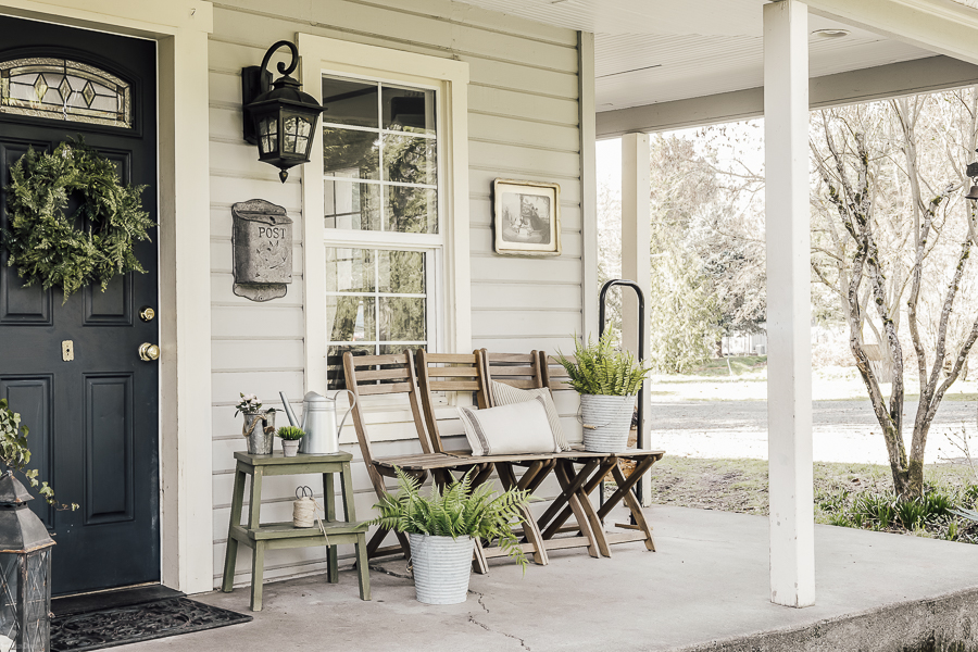 Spring Porch Ideas by sheholdsdearly.com