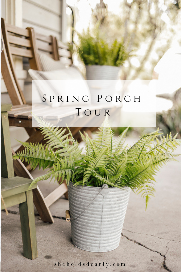 Spring Porch Tour by sheholdsdearly.com