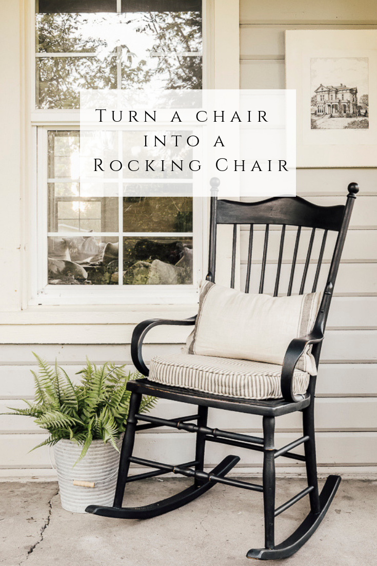 Turn a Regular Chair into a Rocking Chair by sheholdsdearly.com