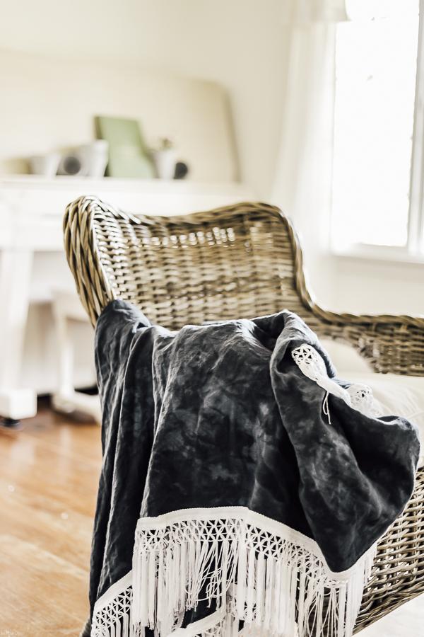 Macrame Trim Blanket by sheholdsdearly.com