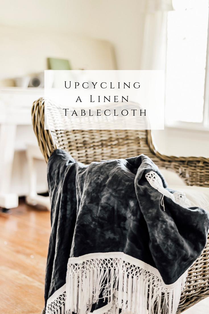 Upcycling a Linen Tablecloth