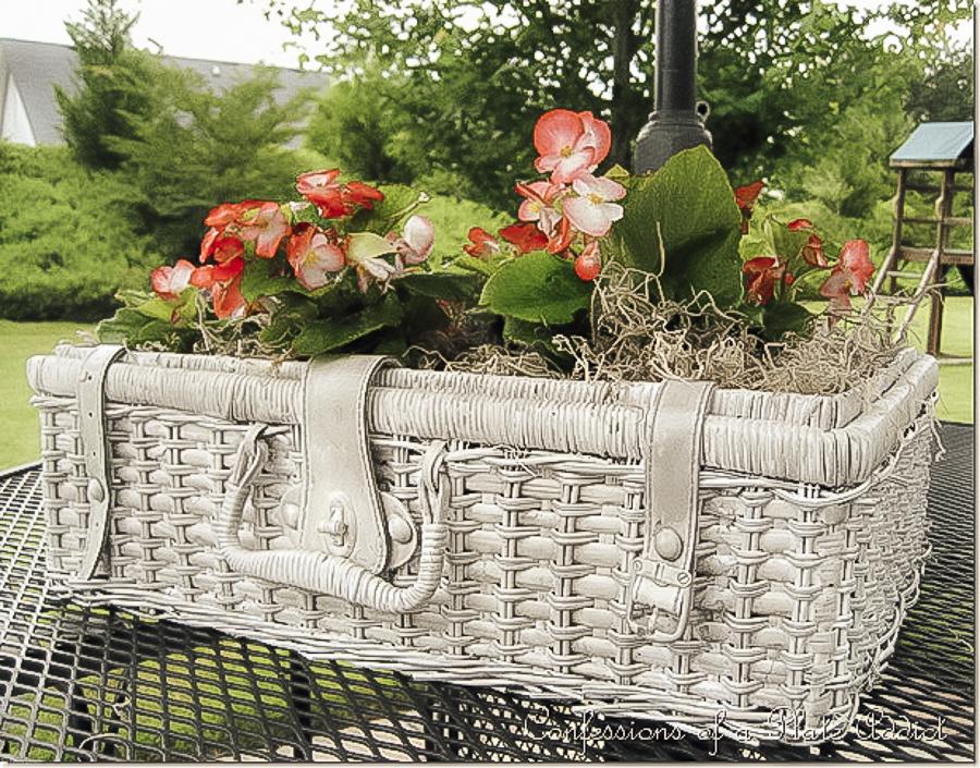 Faux Concrete Piscine Basket by sheholdsdearly.com