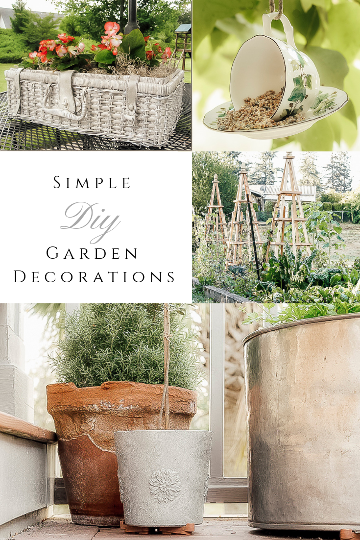 Simple Diy Garden Decorations by sheholdsdearly.com