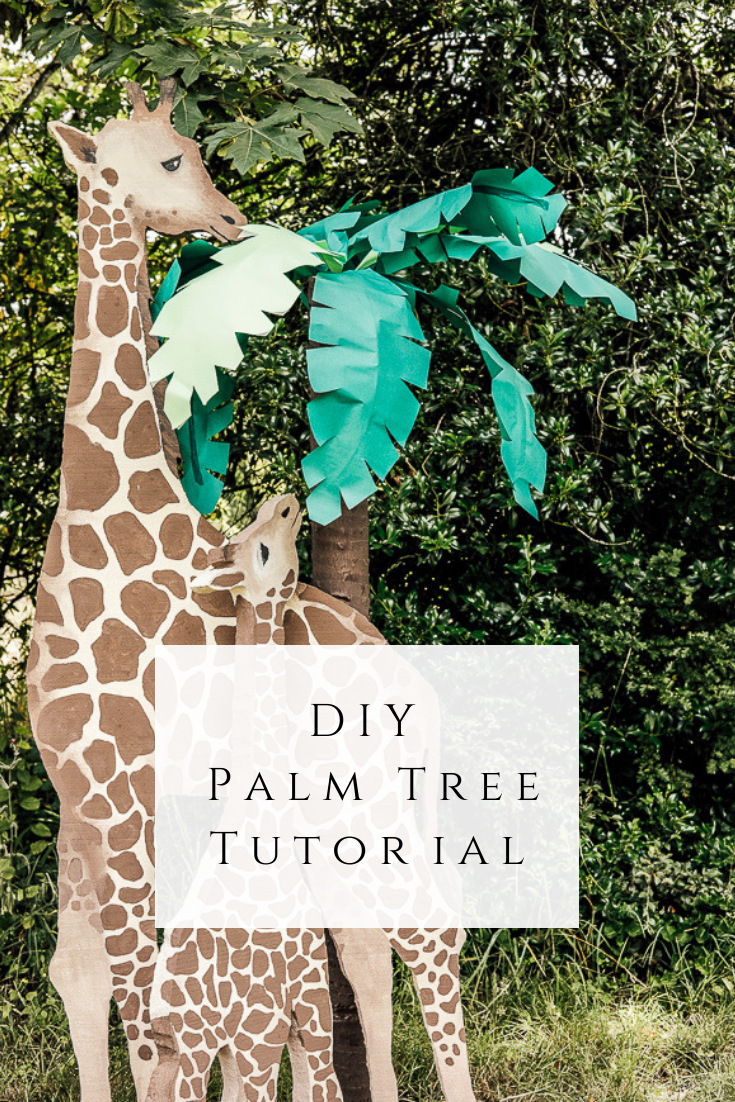 DIY Palm Tree Tutorial by sheholdsdearly.com