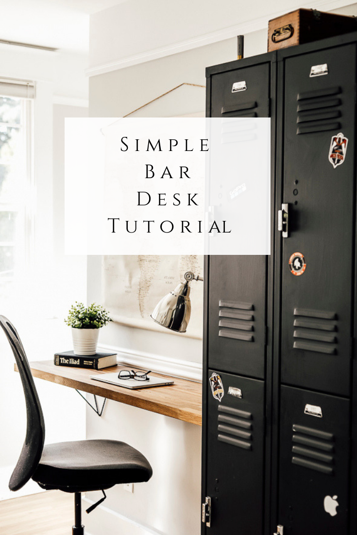 Simple Bar Desk Tutorial by sheholdsdearly.com