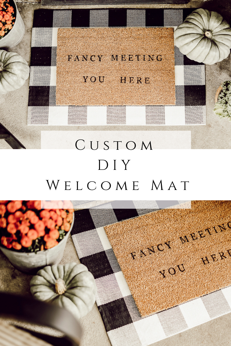 Custom DIY Welcome Mat by sheholdsdearly.com