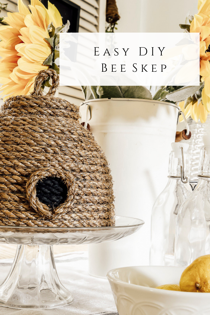 Easy Diy Bee Skep by sheholdsdearly.com