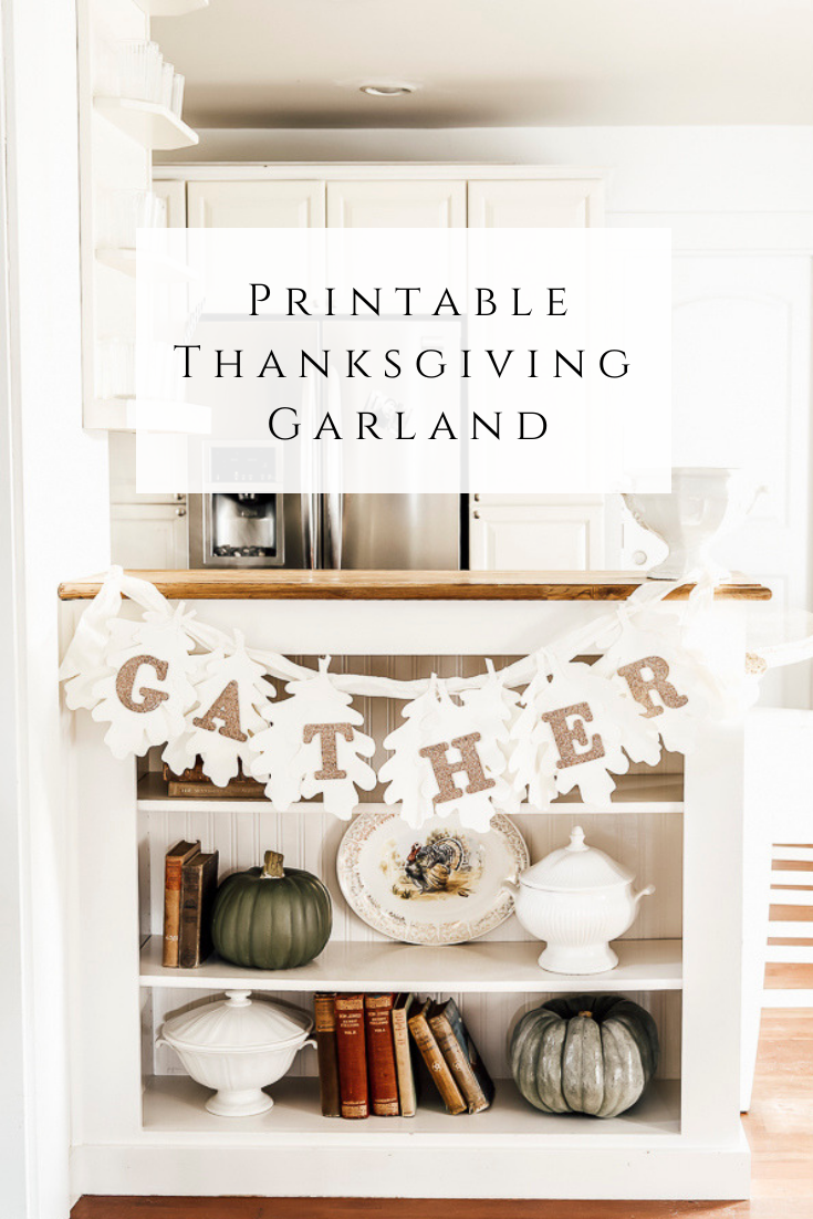 Printable Thanksgiving Garland by sheholdsdearly.com
