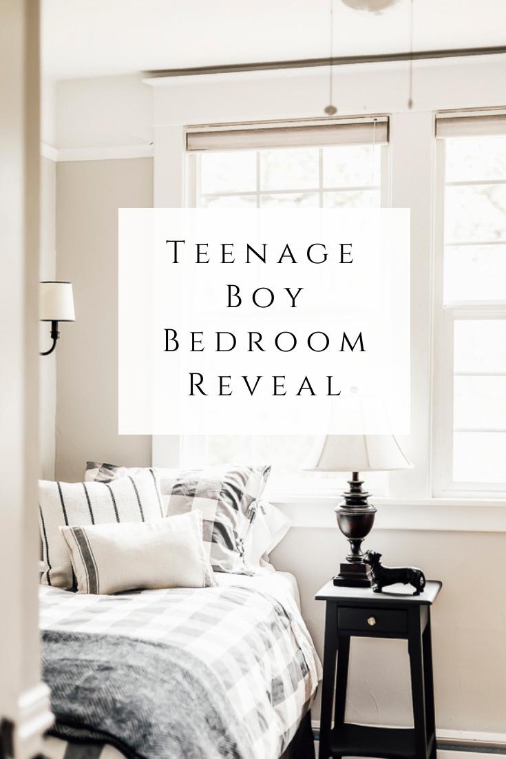 Teen Boy Bedroom Reveal by sheholdsdearly.com