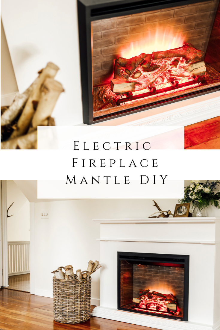 Electric Fireplace Mantle DIY by sheholdsdearly.com