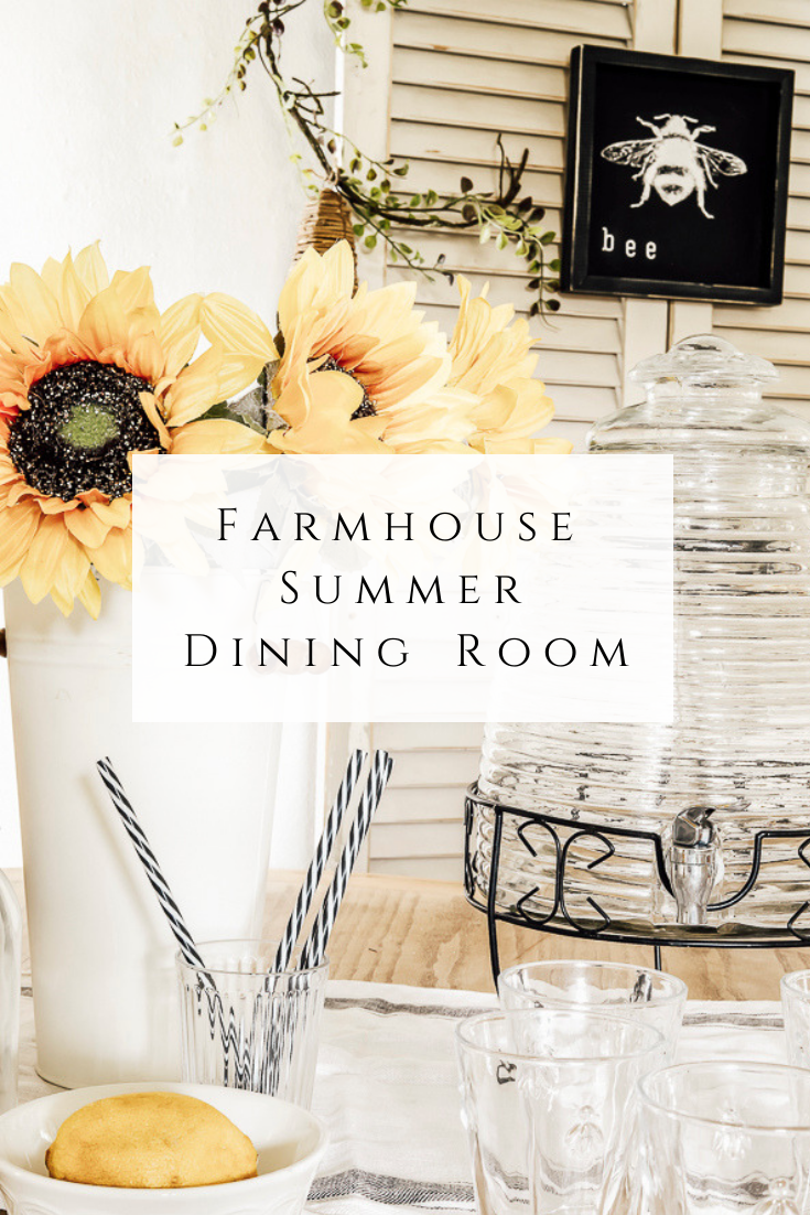 Farmhouse Summer Dining Room Tour by sheholdsdearly.com
