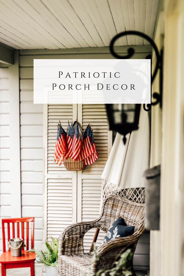 Patriotic Porch Decor by sheholdsdearly.com