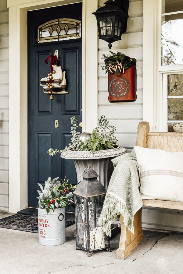 Christmas Porch Decor Ideas by sheholdsdearly.com
