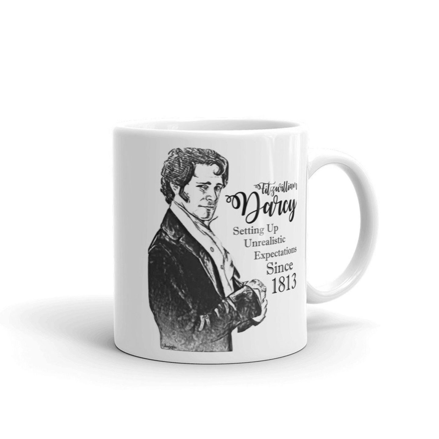 Darcy Mug Party Favor by sheholdsdearly.com