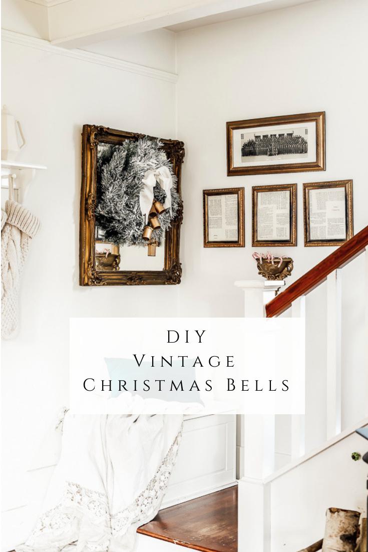 DIY Vintage Christmas Bells by sheholdsdearly.com